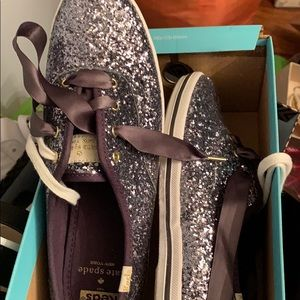 Kate spade KEDS glitter. This is a blue-Ish color